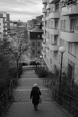 Downstairs (simonbertilsson) Tags: street photo streetphoto monchrome svart svartvit black white vit bw blackwhite gatu foto gatufoto gata stockholm sthlm sweden sverige candid stair kungsholmen bnw