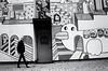 (anetakwiatkowska75) Tags: man monocromo monochrome lodz life murales art street streetphoto city car eye eyes black blackandwhite biancoenero poland polska nero bw bianco wall walking analog nikon nikonf801 film