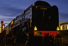 evening at crewe (midcheshireman) Tags: steam train locomotive crewe creweheritagecentre cheshire 71000 dukeofgloucester
