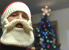 Day 3962 (evaxebra) Tags: wisconsin wi santa hat beard knitted bokeh christmas tree star saint nicholas st nick claus