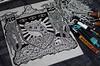 BLAZOIID is coming! (Teratoiid) Tags: teratoiid linogravure linocut dessin illustration gravure engraving pizza blazon blason heraltic heraldique crest coatofoarms satan satanic satanism