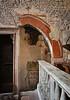 Sant'Elena church (Tigra K) Tags: verona veneto italy it 2011 architecture church cross door fence interior mural ornament romanesque ruin texture wall pattern arch art