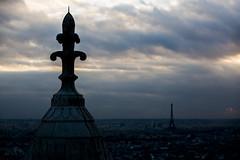 November Skies (Alex Szymanek) Tags: november skies paris eiffel tower roof above city cityscape color cloud clouds silence quiet chill moment travel