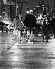 Crosswalk (RW Sinclair) Tags: 14 114 30mm bw csc contemporary dc dn digital il milc mirrorless sony a6000 alpha blackandwhite bnw chicago city f14 illinois monochrome monotone prime sigma urban man men person people woman women cold coat rain wet