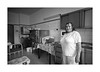 The cook (Jan Dobrovsky) Tags: portrait biogon21mm people reallife leicam10 humanity indoor child psychiatricclinic cook room blackandwhite monochrome human social kitchen document