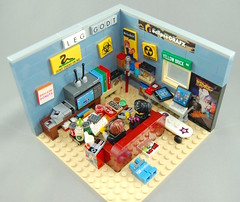 Games Room (brickmodified) Tags: lego nes nintendo eclipsebricks mario bttf snacks candy