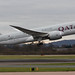 Qatar Airways Dreamliner departing Manchester Airport