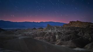 Zabrieskie Point Death Valley at night