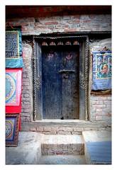 Ornate door frame (posterboy2007) Tags: door step brickwork art ornate nepal repointing mortar sony bhaktapur