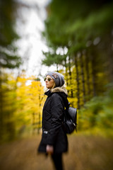 among the ever-changing leaves ... (mariola aga) Tags: spencerpark belvidere park forest autumn fall trees leaves color change girl portrait candid lensbaby composerproiisweet80 bokeh distortion sweetspot manual