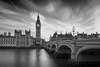 Big Ben painted black (Bernhard Sitzwohl) Tags: london sehenswürdigkeiten sonnenuntergang bigben sight thames river clock clocktower longexposure lee