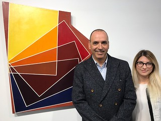 Andres Michelena and Andrea Moratinos of the Juan Carlos Maldonado Art Collection in the design district