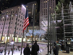 2017 Christmas Tree Rockefeller Center NYC 3644 (Brechtbug) Tags: 2017 christmas tree rockefeller center before lights 11112017 nyc 30 rock new york city standing up above ice rink with snow shoveling workers skating holiday decoration ornaments night lites light oversize load ornament prometheus gold mythological statue sculpture fountain fountains scaffolding scaffold pre thanksgiving