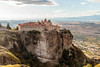 Meteora (CaptSpaulding) Tags: greece meteoramonasteries meteora old religious red monasteries byzantine monks hills mountains sky canon color contrast clouds closeup church landscape canyon grass