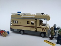 Dale driving his RV (Janultra) Tags: walking dead andrea dale winnebago baretta ruger rifle chieftain rv zombie lego moc wohnwagen wohnmobil rick grimes