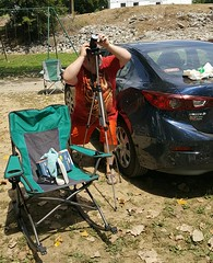 8/21/17 - Taking pictures of the partial eclipse (CubMelodic23) Tags: august 2017 eclipse caveinrockil me dave selfportrait partialsolareclipse solareclipse