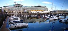 Vigo, Spain - IMG_8418pan (Captain Martini) Tags: cruise cruising cruiseships royalcaribbean navigatoroftheseas vigo spain galicia vigoroyalyachtclub realclubnautico