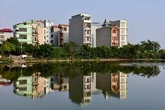 Hanoi cityscape (Jacques Teller) Tags: hanoi vietnam village heritage landscape waterscape periphery urbandevelopment jacquesteller nikond7200 cityscape water pond reflexion