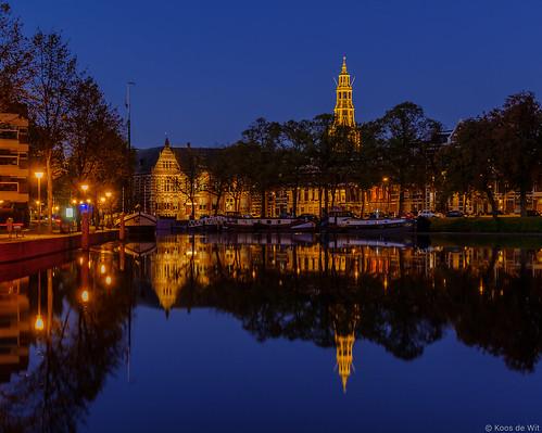 Groningen Zuiderhaven at blue hour