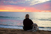 Stay with me (Catch the dream) Tags: sunset dog faithful mansbestfriend beach sea ocean pacific california