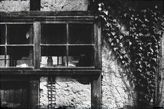 Abandoned house (luckyandbird) Tags: farmhouse window monochrome japan countryside desertedhouse empty summer afternoon