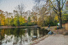 1338__0648FLOP (davidben33) Tags: brooklyn 718 ny quotnew yorkquot quotprospect parkquot autumn 2017 fall trees bushes leaves lake pets gooses ducks water sky clouds colors yellow green blue people quotstreet photosquot