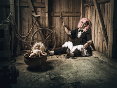 Forgotten (Tortured Mind) Tags: 2470mmf28 43 lapinlahti ok pohjoissavo suomi d800 dark doll dslr fi fineart gothicart loneliness macabre nikkor nikon pink portrait sadness surreal woman zoom