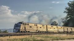 Exposition Flyer (Coloradorailphotographer) Tags: streamliner passengertrain ogauge oscale 148 modelrailroad colorado burlingtone5 e5 chicagoburlingtonandquincy burlingtonroute cbq