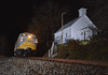 Clinchfield Extra (benpsut) Tags: clinchfield crr800 800 huntdale csx csxblueridgesub blueridge funit church night nightphoto nightshot flash flashphoto trains railroad