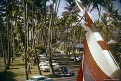 Halekulani Kalia Mauka 1956 (Kamaaina56) Tags: 1950s waikiki hawaii halekulani slide