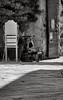 Riposo all'italiana (woodpecker_) Tags: riposo populonia italy woman old tuscany white black bw