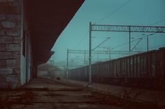 54 (dejfex) Tags: dejfex dawid wereszczyński polska poland łuków lukow pkp railway station stacja fog mgła outdoor pociąg train sony slta57 a57 dt50mmf18sam sal50f18