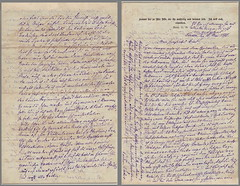 Letter from Father (1812-1875) to Daughter (1859-1955) 1873-05-16, p. 4+1 (142[×2]×220 mm) (palMeir) Tags: letter verden 1873 1870s brief kurrentschrift handwriting germany