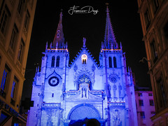 Saint-Nizier Church facade during the festival of lights (*Checco*) Tags: lyon nizier ancient architecture building cathedral catholic catholicism chapel christian christianity church city construction culture decoration design dusk europe european exterior facade faith famous festival france gothic historic historical history landmark lights medieval night old religion religious stone structure style symbol temple tourism tower town traditional urban wall window worship