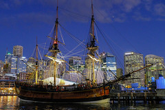 Sydney Sailing Ship (Neal3K) Tags: sydney australia sydneyharbour night nightphotography tallship nightscape