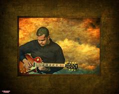 Music In The Key of Air (MBates Foto) Tags: clouds color composite gibson guitar layers lespaul male nikkorlense nikon nikond7000 people portrait studio textures spokane washington unitedstates 99203