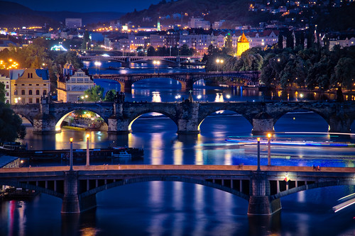 The Bridges Through Prague