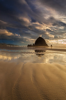 Evening at Haystack Rock