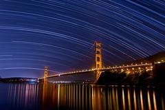 Star trails over the Golden Gate (R Lund photography) Tags: goldengate goldengatebridge bridge startrails sanfrancisco marin night astrophotography california longexposure canon6d canon canon1740 reflection water bayarea sfbayarea sanfranciscobayarea sanfranciscobay sf