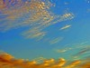 07Dec17 Sky Painting (Daisy Waring World) Tags: sky arty clouds gold yellow blue green orange torquoise