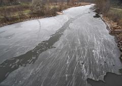 Freezeup on Bronte Creek (Gavin Edmondstone) Tags: brontecreek oakville ontario ultrawideangle laowa75mm ice