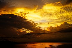 Dark Clouds on the Horizon (jay_kilifi) Tags: clouds kenya sun orange glow nikon d800 dxo optics horizon sky dramatic • kilifi creek indian ocean coast beach shoreline sunrise