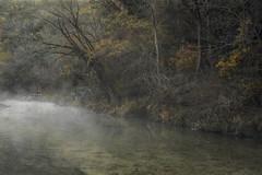 Melancholy Morning (keith_shuley) Tags: fog foggy mist misty mistymorning creek stream bullcreek austin texas texashillcountry fallcolors