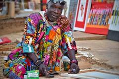 Artist on Gorée Island, Dakar, Senegal. (Nina_Ali) Tags: goreeisland senegal artist vibrance africa island slavery dakar afrique travelphotography westafrica ninaali