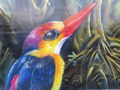 Vietnam - South Vietnam - Ho Chi Minh City - Street art in District 1 - Bird (JulesFoto) Tags: vietnam hochiminhcity saigon bird streetart mural