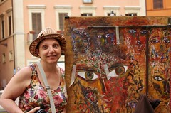 Rome - Piazza Navona - May 2015 - What Big Eyes They Have
