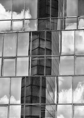 Building Abstract #80 - explored (Joseph Pearson Images) Tags: building architecture abstract london blackandwhite mono bw reflection johnsbonningtonpartnership postmodern