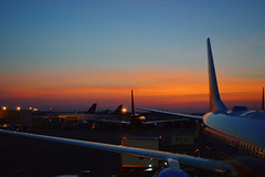 Early morning flying (radargeek) Tags: airplane airport southwest airlines dca reagannational washingtonnationalairport washingtondc morning sunrise 2016