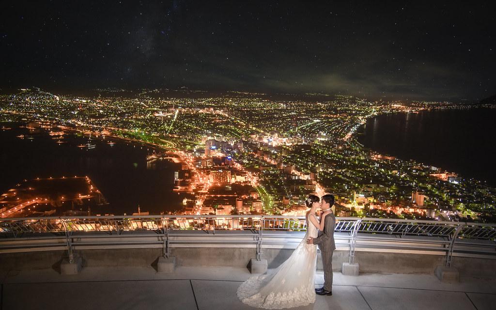 北海道婚紗 函館夜景婚紗拍攝