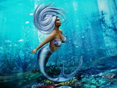 Under Water Beauty (Mira Bellflower {Photographer}) Tags: secondlife sl shading photoshop ps photo photos pileup flickr mesh mermaid fun enchanted water